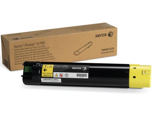 Тонер-картридж Xerox 106R01525 для PH 6700 N желтый 12000стр