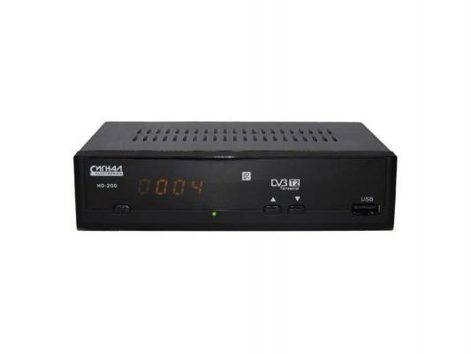 Тюнер цифровой DVB-T2 Сигнал HD-200 черный