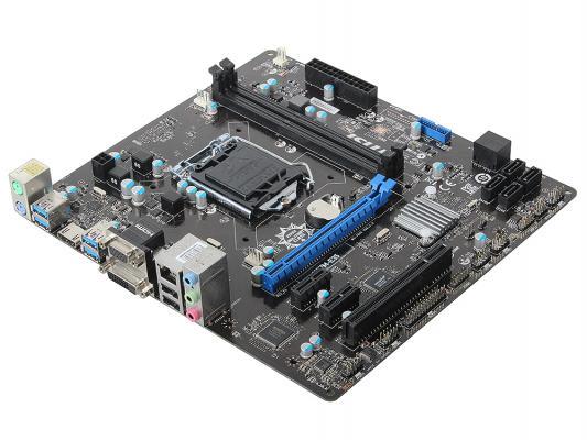 Мат. плата MSI H97M-E35 <S1150, iH97, 2*DDR3, PCI-E16x, SVGA, DVI, SATA III, GB Lan, mATX, Retail>