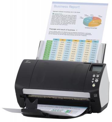 Сканер Fujitsu-Siemens fi-7160 протяжный A4 600x600 dpi CCD 60ppm duplex черный PA03670-B051 fujitsu siemens v 5505