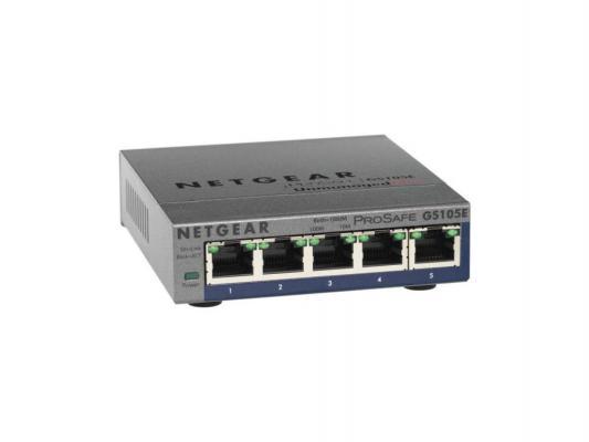 Коммутатор Netgear GS105E-200PES неуправляемый 5 портов 10/100/1000Mbps