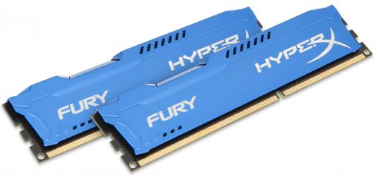 Оперативная память 16Gb (2x8Gb) PC3-15000 1866MHz DDR3 DIMM CL10 Kingston HX318C10FK2/16 HyperX FURY Blue Series