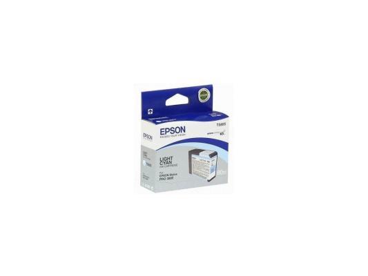 Картридж Epson T580500 для Stylus Pro 3800 светло-голубой картридж epson original t08254a для r270 390 rx590 светло голубой c13t11254a10