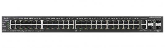 Коммутатор Cisco SG500-52P управляемый 48 портов 10/100/1000Mbps 2xFSP SG500-52P-K9-G5 коммутатор cisco sg200 50 48 портов 10 100 1000mbps 2x combo gblan sfp slm2048t eu