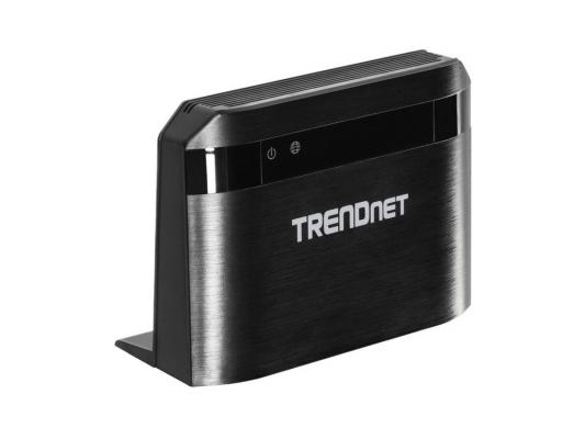 Маршрутизатор TRENDnet TEW-810DR 802.11acbgn 733Mbps 2.4 ГГц 5 ГГц 4xLAN черный кабель trendnet tew l202 tew l202