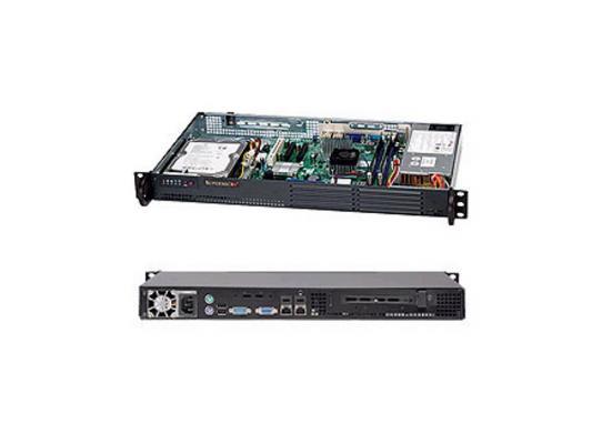 Серверный корпус 1U Supermicro CSE-502L-200B 200 Вт чёрный корпус для сервера 1u 400w cse 515 r407 supermicro