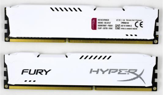 Память DDR3 8Gb (pc-12800) 1600MHz Kingston HyperX Fury White Series CL10 Kit of 2 <Retail> (HX316C10FWK2/8)