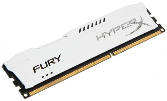 Память DDR3 4Gb (pc-12800) 1600MHz Kingston HyperX Fury White Series CL10 <Retail> (HX316C10FW/4)
