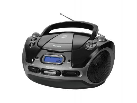 Аудиомагнитола TELEFUNKEN TF-SRP3471B черный с зеленым