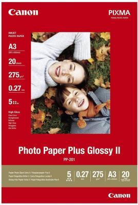 Бумага Canon PP-201 А3 260 г/кв.м глянцевая 2311B020 20л бумага цв а4 20л 10цв хобби тайм 2 вида