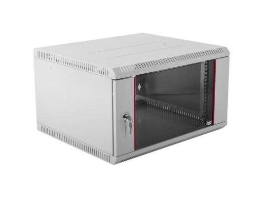 Шкаф телекоммуникационный настенный разборный 6U (600х520) дверь стекло ШРН-Э-.500