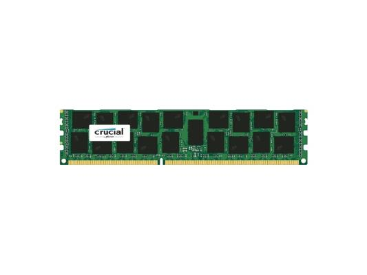 Оперативная память 16Gb PC3-14900 1866MHz DDR3 DIMM Crucial ECC Reg CL13 CT16G3ERSDD4186D память ddr4 kingston kvr21r15s8k4 16 4х4gb dimm ecc reg pc4 17000 cl15 2133mhz
