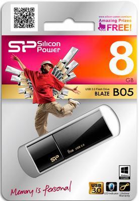 Флешка USB 8Gb Silicon Power Blaze B05 SP008GBUF3B05V1K черный