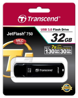 Флешка USB 32Gb Transcend Jetflash 750 USB3.0 TS32GJF750K черный цена и фото