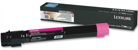 Картридж Lexmark X950X2MG для X95x пурпурный 22000стр compatible toner lexmark c930 c935 printer laser use for lexmark refill toner c940 c945 toner bulk toner powder for lexmark x940