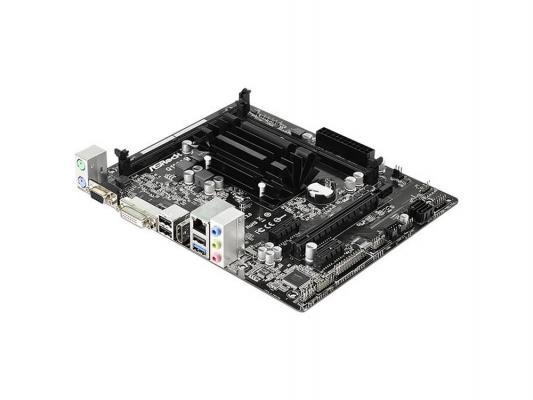 Материнская плата ASRock Q1900M Intel Celeron J1900 2xDDR3 1xPCI-E 16x  2xPCI-E 1x 2xSATAII Realtek ALC662 5.1 Sound Glan microATX Retail