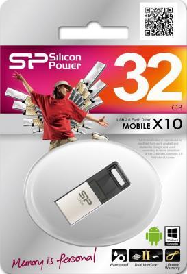 ������ USB 32Gb Silicon Power Mobile �10 SP032GBUF2X10V1C �����������