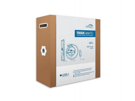 Кабель SFTP 4 пары категория 5e Ubiquiti TOUGHCable TC-Pro одножильный 24AWG грозозащита 305м