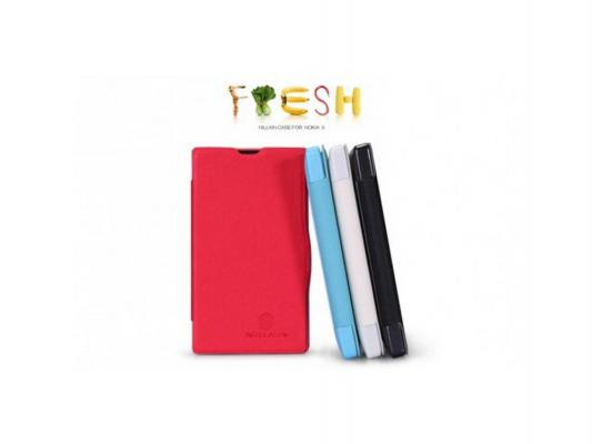 Чехол Nillkin Fresh Series Leather Case для Nokia X черный T-N-NX-001