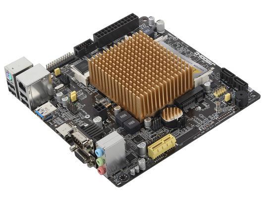 Материнская плата ASUS J1800I-C Intel Celeron J1800 2xDDR3 1xPCI 2xSATAII D-Sub HDMI USB3.0 mini-ITX Retail