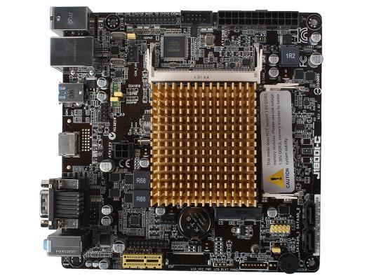 Материнская плата ASUS J1800I-C Intel Celeron J1800 2xDDR3 1xPCI 2xSATAII D-Sub HDMI USB3.0 mini-ITX Retail материнская плата asus h110i plus socket 1151 h110 2xddr4 1xpci e16x 4xsata3 d sub dvi hdmi 4xusb3 0 d sub dvi hdmi glan mini itx ret