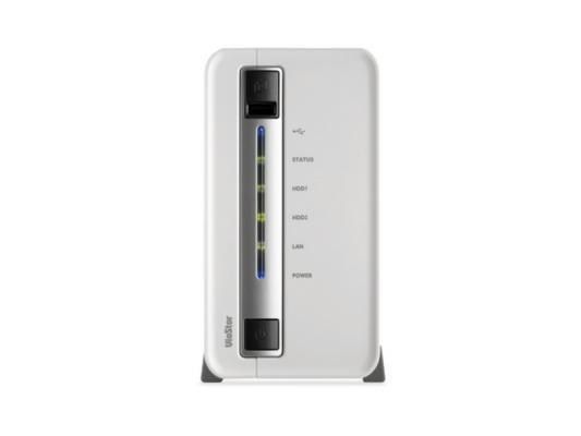 Сетевой видеорегистратор QNAP VS-2104L Сервер IP-видеонаблюдения с 4 каналами для записи видео и двумя отсеками для жестких дисков видеорегистратор для видеонаблюдения