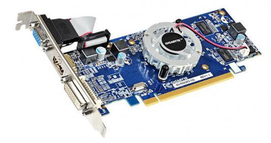 Видеокарта 1024Mb Gigabyte R5 230 PCI-E GDDR3 64bit DVI HDMI CRT HDCP GV-R523D3-1GL Retail переходник aopen hdmi dvi d позолоченные контакты aca311