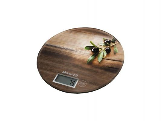 Весы кухонные Maxwell MW-1460-BN коричневый рисунок