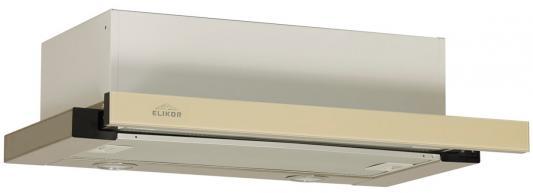 Вытяжка встраиваемая Elikor Интегра GLASS 60Н-400-В2Г бежевый встраиваемая вытяжка elikor интегра 60 крем крем