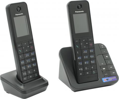 Радиотелефон DECT Panasonic KX-TGH222RUB черный радиотелефон dect panasonic kx tgh220rub черный