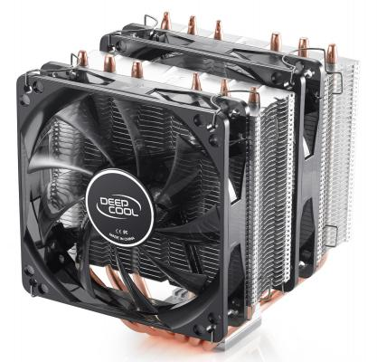 Кулер для процессора Deepcool NEPTWIN V2 Socket AMD/1150/1155/1156/2011/ 4pin 26-31dB Al+Cu 150W 1109g винты LED Blue Retail DP-MCH6-NT
