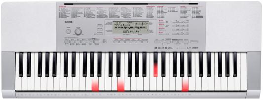 Синтезатор Casio LK-280 61 клавиша USB AUX серебристый casio lk 260