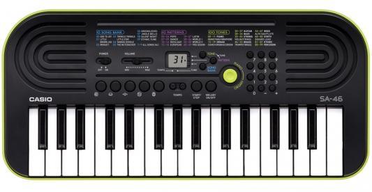Синтезатор Casio SA-46 32 мини-клавиши 5 ударных пэдов зеленый синтезатор casio sa 78