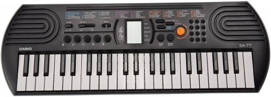 Синтезатор Casio SA-77 44 мини-клавиши 5 ударных пэдов серый синтезатор casio sa 78