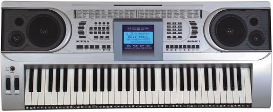 Синтезатор Supra SKB-611 61 клавиша серебристый