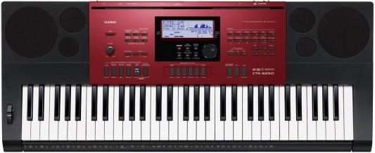 лучшая цена Синтезатор Casio CTK-6250 61 клавиша USB AUX SD красный