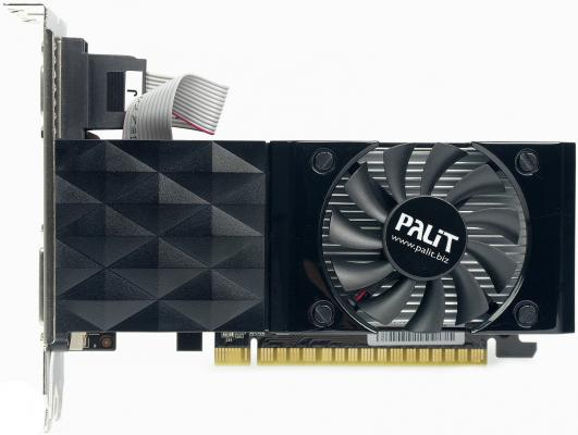 Видеокарта 1024Mb Palit GeForce GT730 PCI-E DDR3 64bit DVI HDMI OEM
