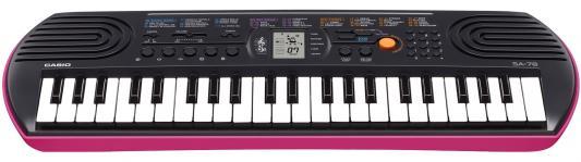 Синтезатор Casio SA-78 44 мини-клавиши 5 ударных пэдов розовый синтезатор casio sa 78