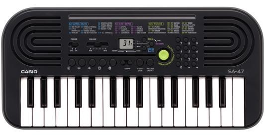 Синтезатор Casio SA-47 32 мини-клавиши 5 ударных пэдов серый синтезатор casio sa 78