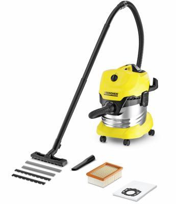 Фото - Пылесос Karcher WD 4 Premium 1.348-150.0 сухая уборка жёлтый пылесос karcher wd 4 premium