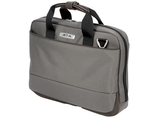 """где купить Сумка для ноутбука 15.6"""" Jet.A LB15-01 полиэстер серый по лучшей цене"""