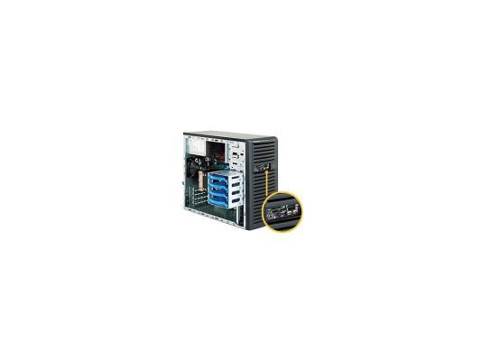 Серверный корпус microATX Supermicro CSE-731D-300B 300 Вт чёрный