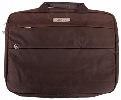 """Сумка для ноутбука 15.6"""" Jet.A LB15-60 полиэстер коричневый"""