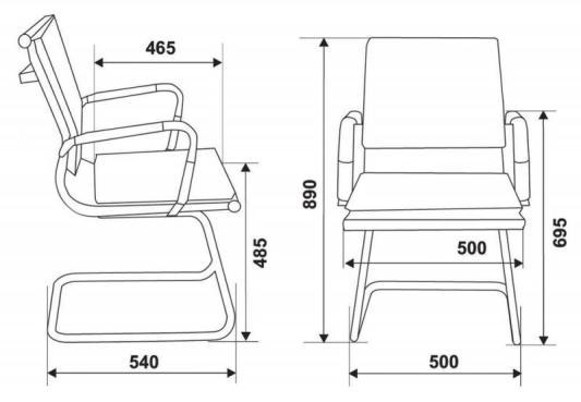 Кресло Buro CH-993-Low-V/grey низкая спинка искусственная кожа полозья хром серый кресло бюрократ ch 993 low v красный