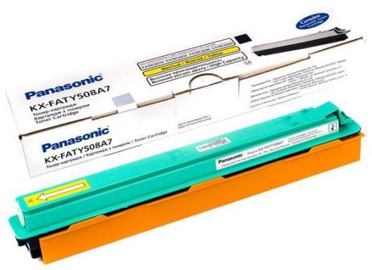 Тонер-картридж Panasonic KX-FATY508A7 для KX-MC6020RU желтый 4000стр атс panasonic kx tem824ru аналоговая 6 внешних и 16 внутренних линий предельная ёмкость 8 внешних и 24 внутренних линий