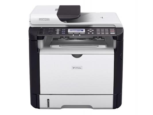 МФУ Ricoh Aficio SP 311SFN черно-белая A4 1200x600 dpi 28ppm RJ-45 USB 407238