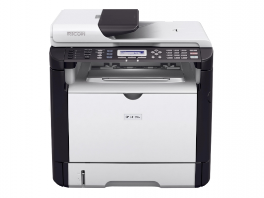 МФУ Ricoh Aficio SP 311SFNw черно-белый A4 1200x600 dpi 28ppm RJ-45 USB 407241