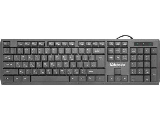 Клавиатура DEFENDER OfficeMate SM-820 USB черный 45820 цена 2017