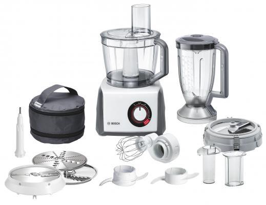 Кухонный комбайн Bosch MCM64085 1200Вт черно-белый