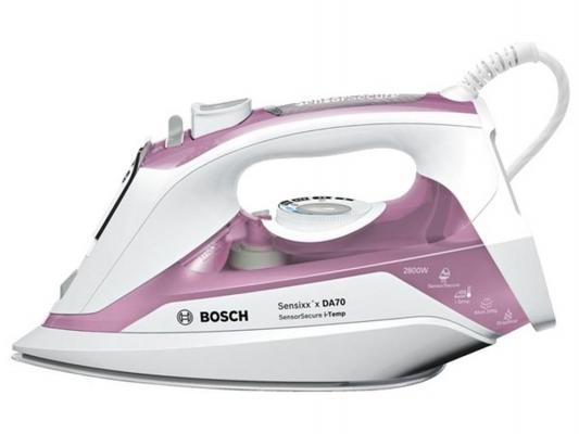 Утюг Bosch TDA702821I 2800Вт подача пара 50 г/мин пар.удар 200 г/мин розово-белый